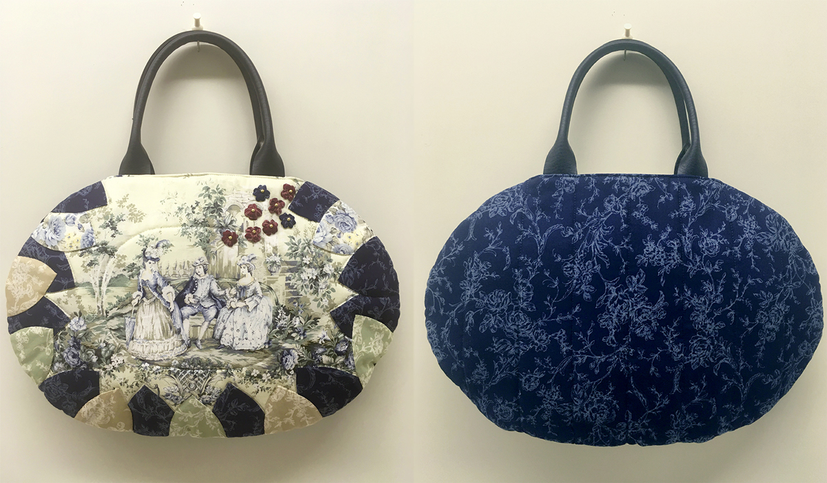 Small Black Floral Traditional Japanese Purse